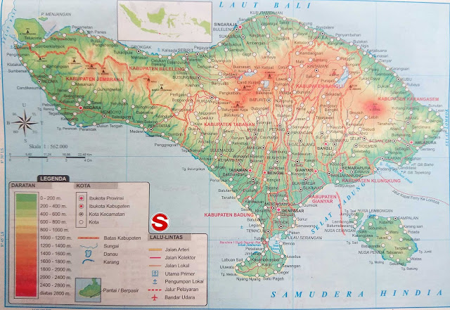 Gambar Peta Atlas Provinsi Bali