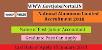 National Aluminium Company Limited Recruitment 2018 -09 Junior Accountant