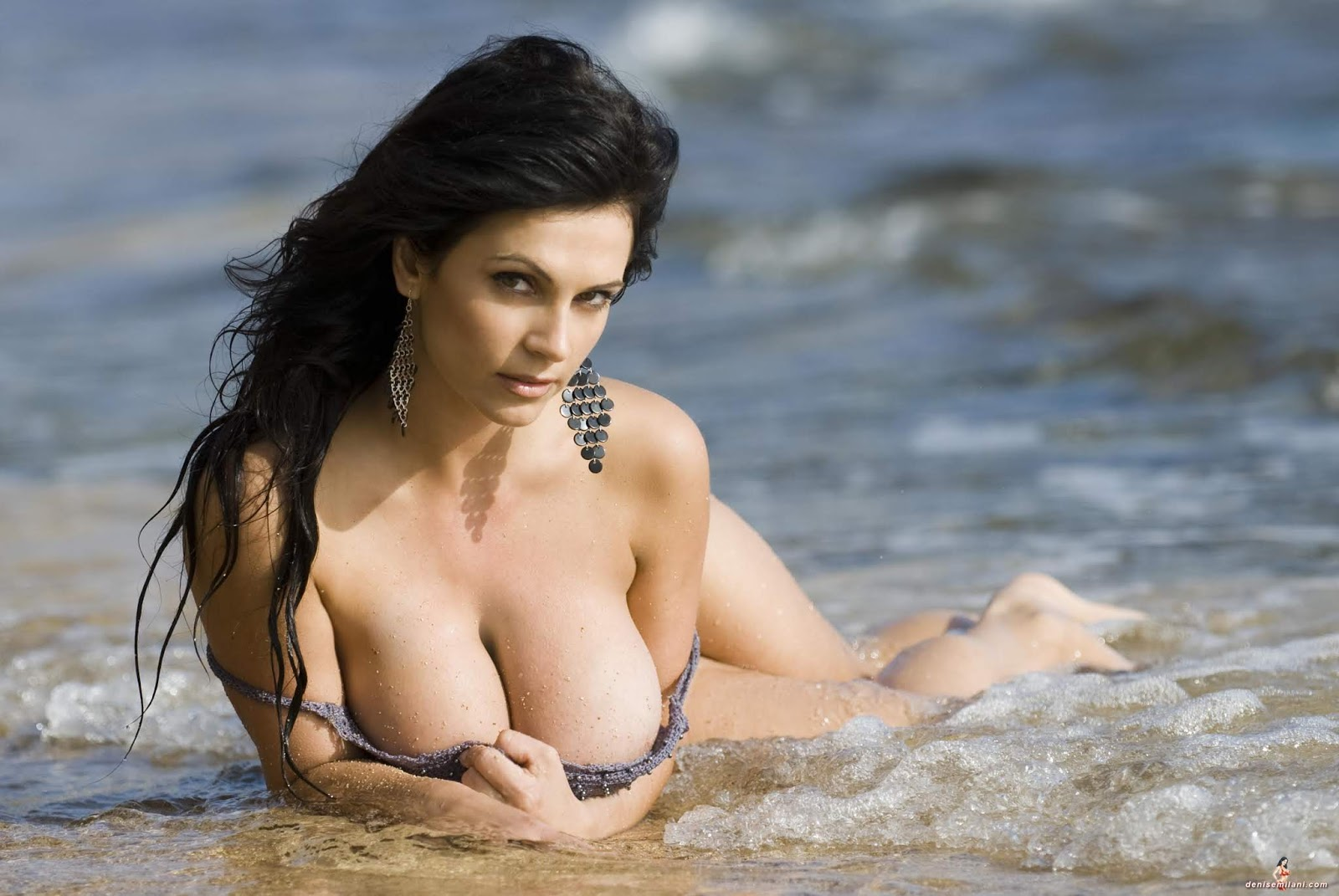 Denise milani at the beach nude, nitemare sex gifs