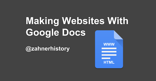 Making Websites With Google Docs