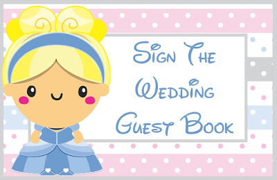 Cinderella Wedding Tent Cards Printable Digital Download-Sign The Wedding Guest Book Tent Card Table Decorations-DIY Cutout Template Idea-Fairy Tale Wedding by The Iced Sugar Cookie