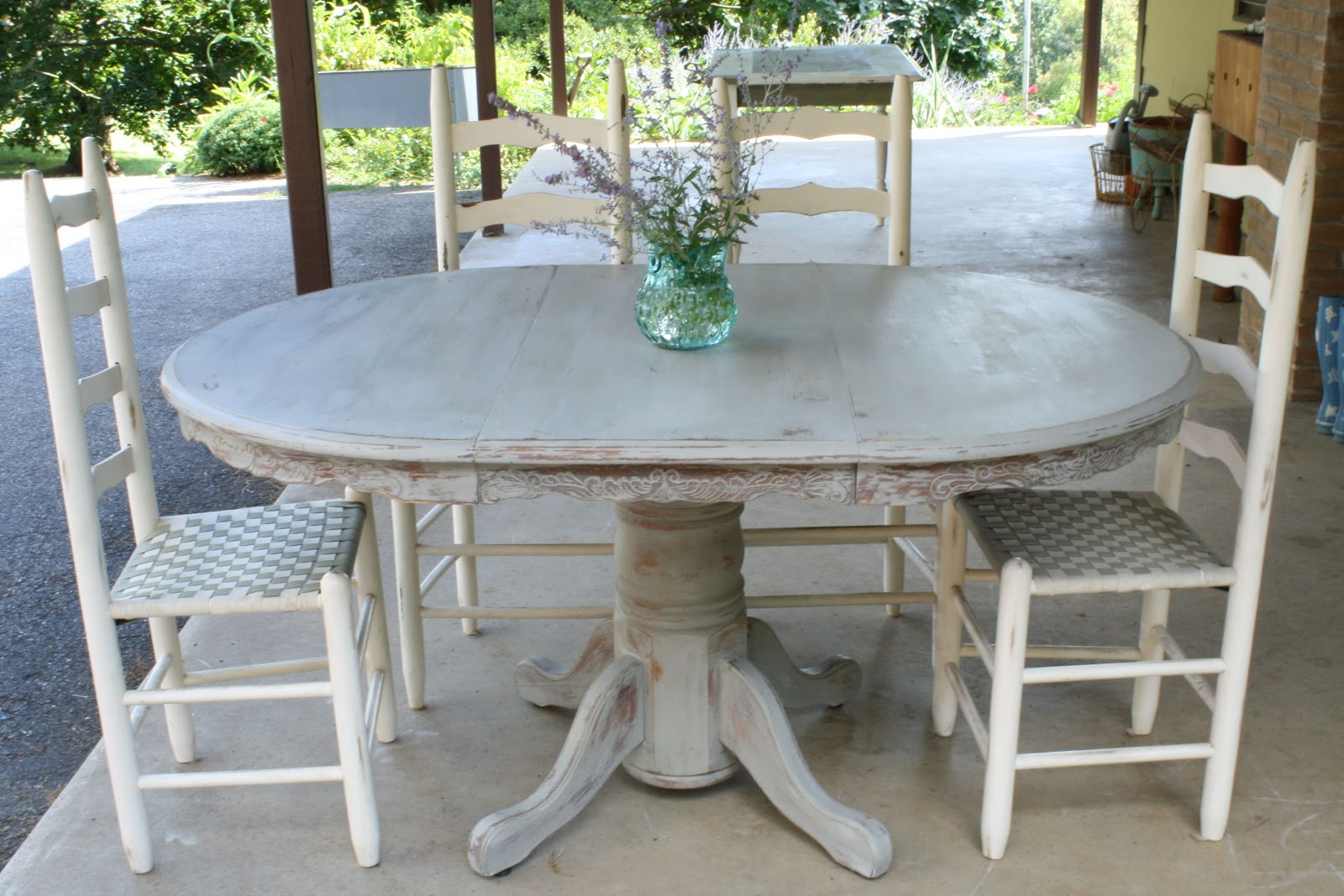 Grey Wood Dining Room Table: Weathered Paris Gray Dining Table