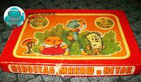 Настольная игра СССР Непоседа, Мякиш и Нетак толстяк пузырь деревяшка пень железный человек дровосек красная коробка веселка 1983 1991.