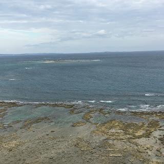知念岬公園から望む海