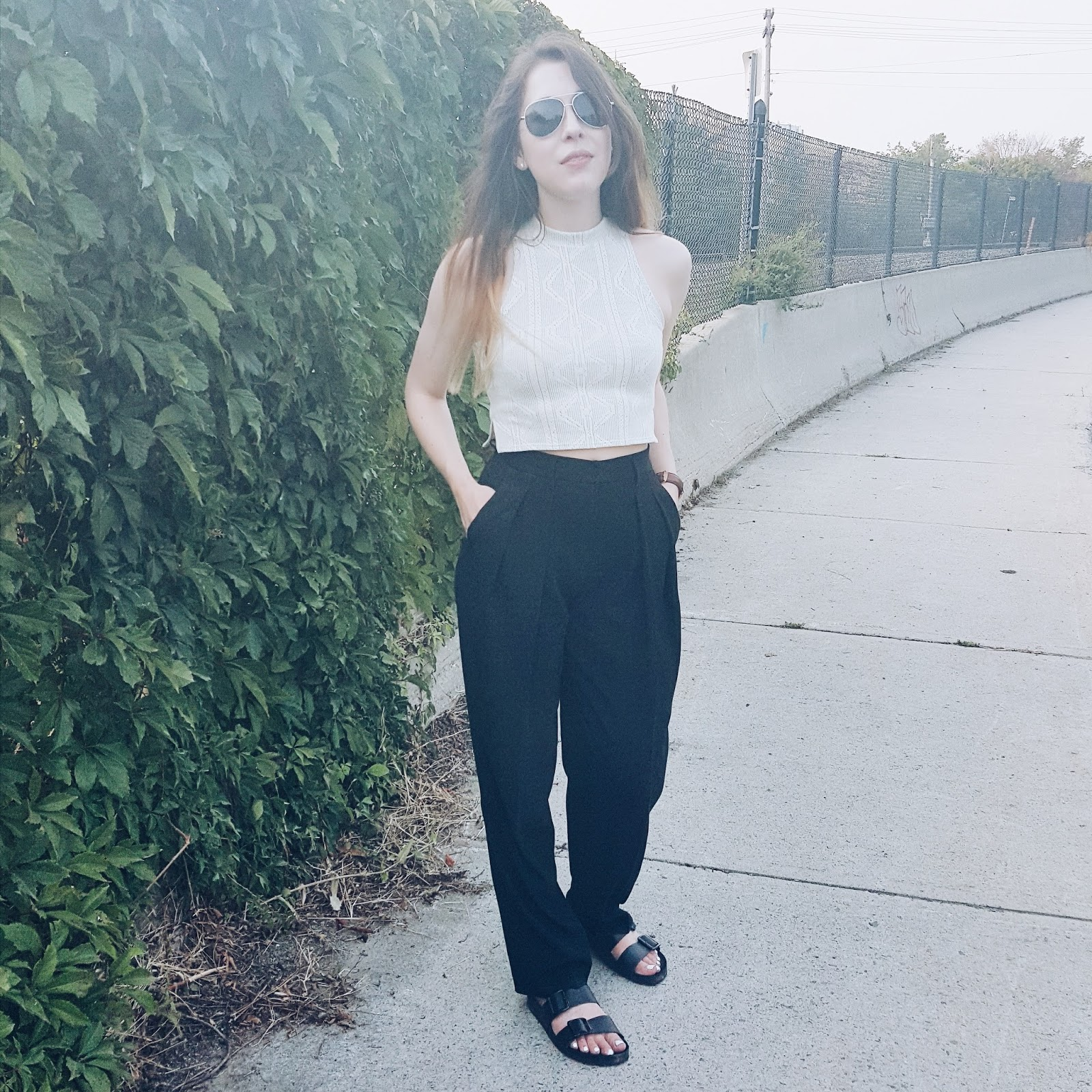 OOTD ft. Aritzia's Gustav high waisted trouser