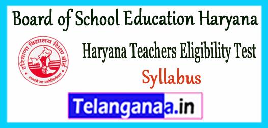 Haryana Teacher Eligibility Test Level 1 2 3 Syllabus 2017 PGT Lecturer TGT Primary Teacher