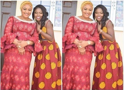 Ex-housemate, Debbie-Rise pictured with Kogi First Lady, Mrs Rashida Bello