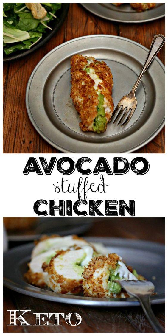 Keto Avocado Stuffed Chicken