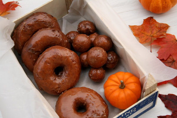 Pumpkin Doughnuts w/ Spiced Buttermilk Glaze