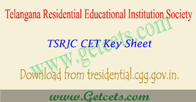 TSRJC key sheet 2018 question paper download results date,tsrjc answer key download 2018