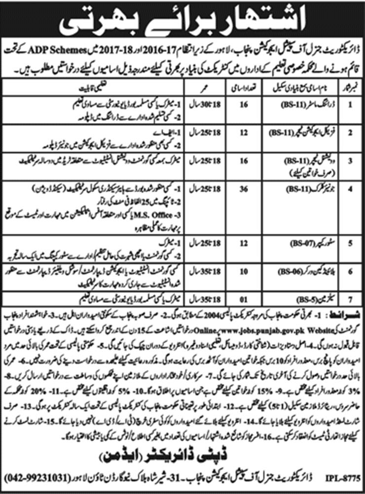 Special Education Department Jobs 2018