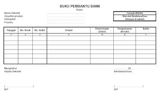 format buku bantu bank dana BOS