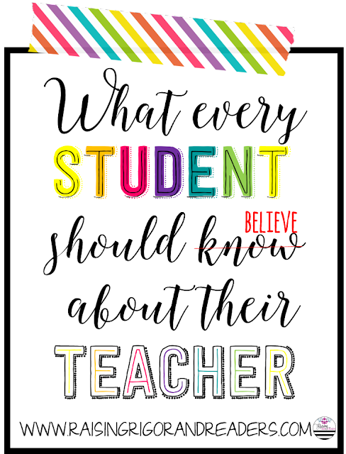 What Every student should know about their teacher