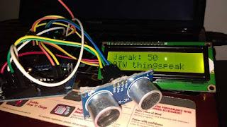 ESP8266, Cara Mengirim Data Sensor Jarak ke Thingspeak