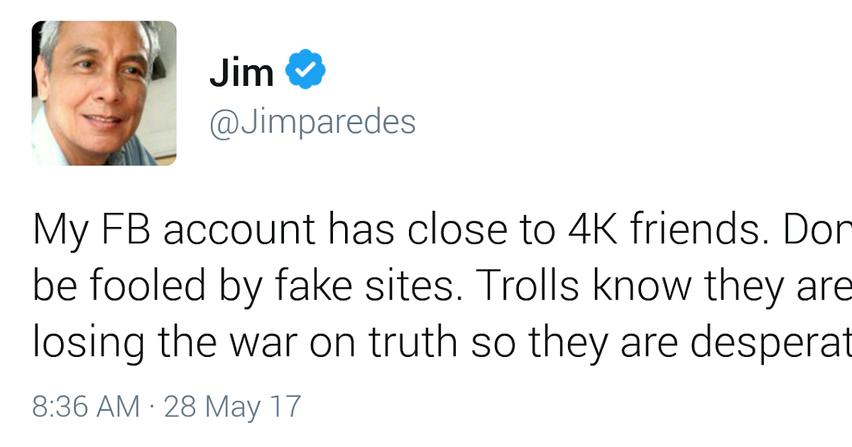 Jim Paredes Tutulungan Ng Pnp: Fashion PULIS: Tweet Scoop: Jim Paredes Gets Victimized By