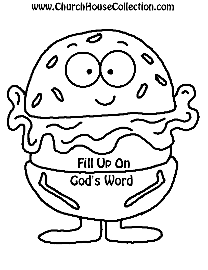 Hamburger Printable Cutout Template For on ally house