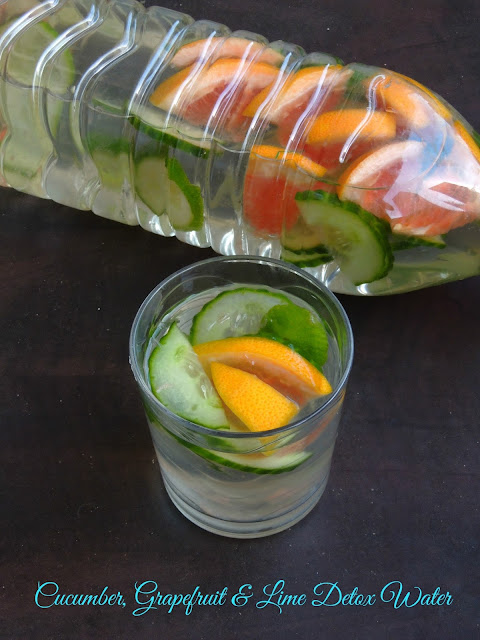Cucumber, Grapefruit & Lime Detox Water, Slim Down Detox Water