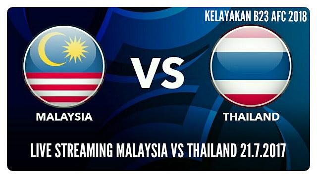 Live Streaming Malaysia vs Thailand Kelayakan B-23 AFC 2018