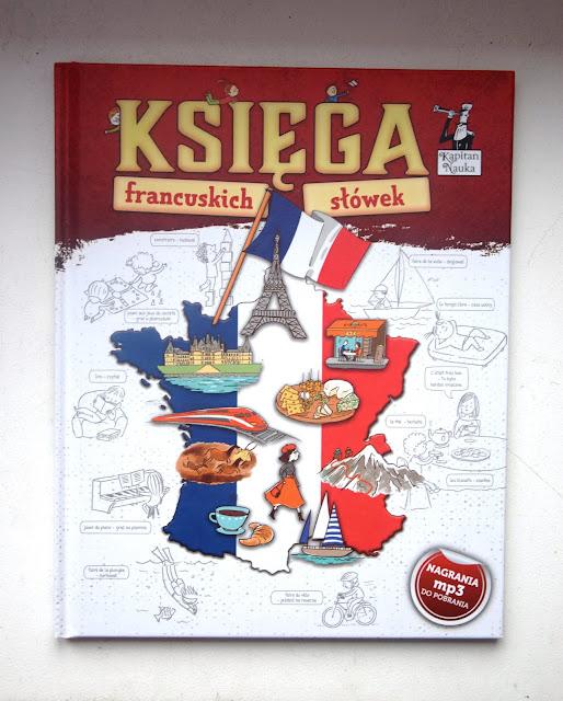 """Recenzje #83 - """"Księga francuskich słówek"""" + konkurs - okładka książki pt. """"Księga francuskich słówek"""" - Francuski przy kawie"""