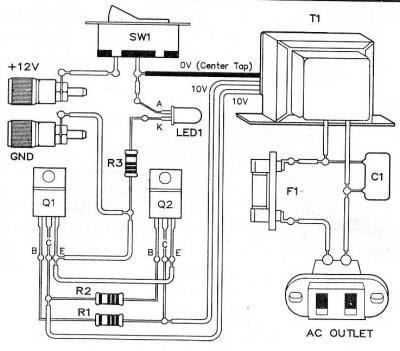 micro inverter circuit dc voltage ac 12v x110v circuit diagram