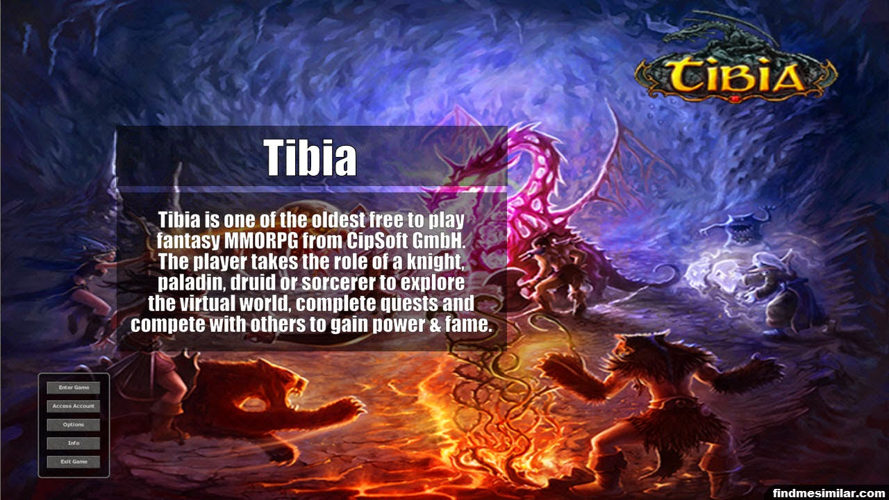 Tibia a similar game like RuneScape