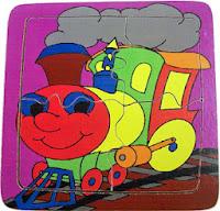 Mainan Puzzle Anak Sederhana Train