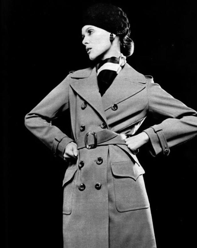 Yves Saint Laurent trench coat 1969 via www.fashionedbylove.co.uk british fashion blog
