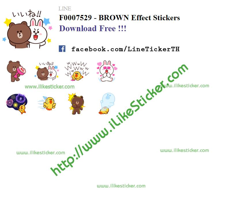 BROWN Effect Stickers