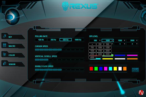 Rexus TX9 Titanix DPI Settings
