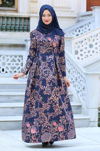 Model Baju Gamis Batik Kombinasi Untuk Orang Gemuk