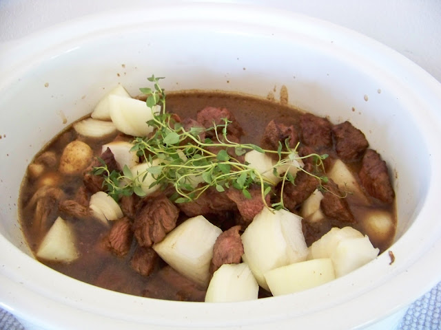 Beef Bourignon ready to cook