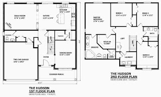 two storey house plans - Simple House Plan