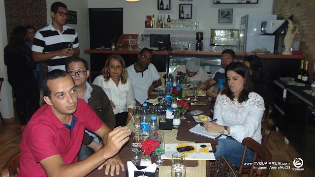 Pre-candidato a prefeito de Goiana Pauluca Moura (PSD) reune imprensa goianense para um jantar