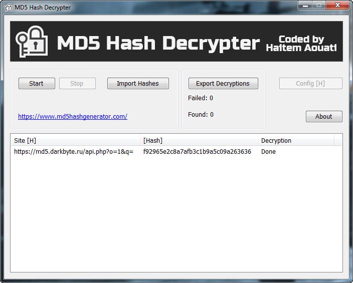 MD5 Hash Decrypter V1 ~ Belva48 Blog