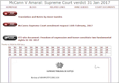 McCann V Amaral: Supreme Court verdict 31 Jan 2017. Costs for the Appellants!
