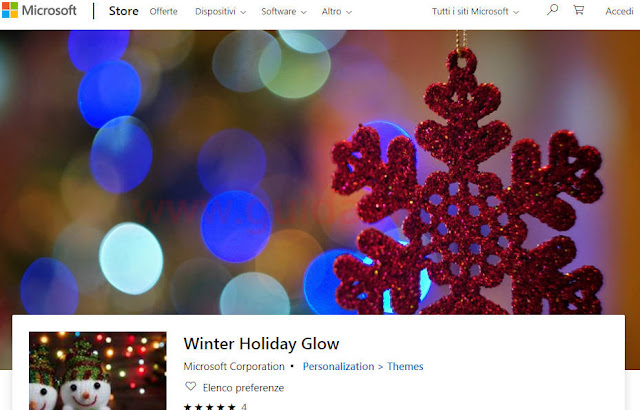 Microsoft Store temi di Natale per Windows 10