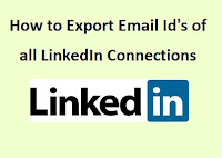 Export Email Id's of all LinkedIn Connections