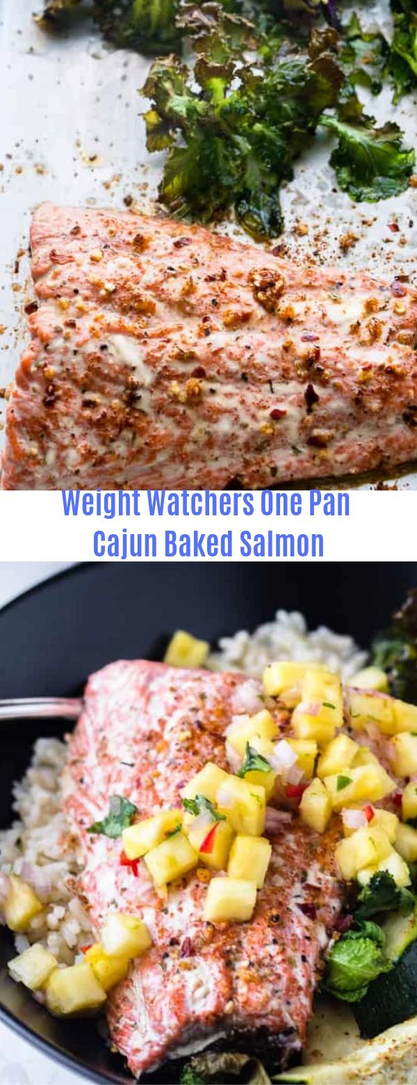 Weight Watchers One Pan Cajun Baked Salmon