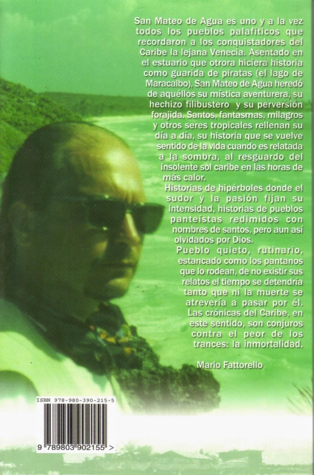 Contraportada de relatos a la sombra de San Mateo Mario Fattorello