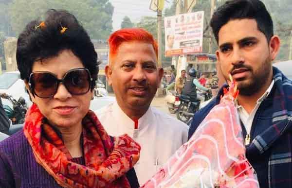 Rajya Sabha MP Kumari Selja supporters did welcome