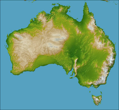 Land features in the western area of Australia fit the Genesis Model quite well