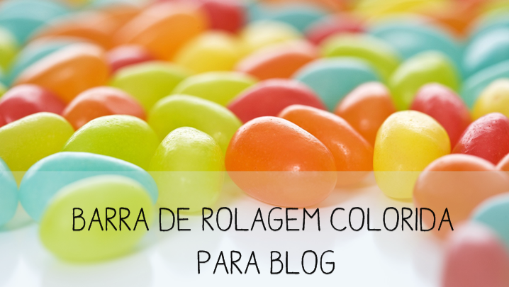 barra de rolagem colorida para blog