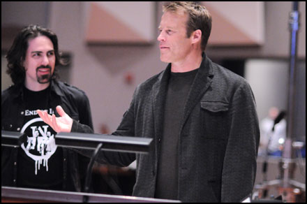 Mark Valley makes an appearance at what ended up being Bear McCreary's final Human Target recording session and offers to teach the dorkiest violinists in the studio some krav maga moves.