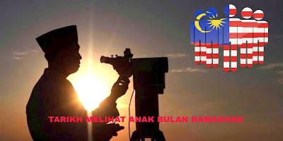 Tarikh dan Lokasi Melihat Anak Bulan Ramadhan 2019