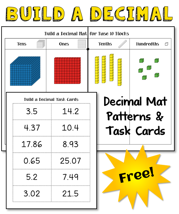 Corkboard Connections How To Introduce Decimals With Base