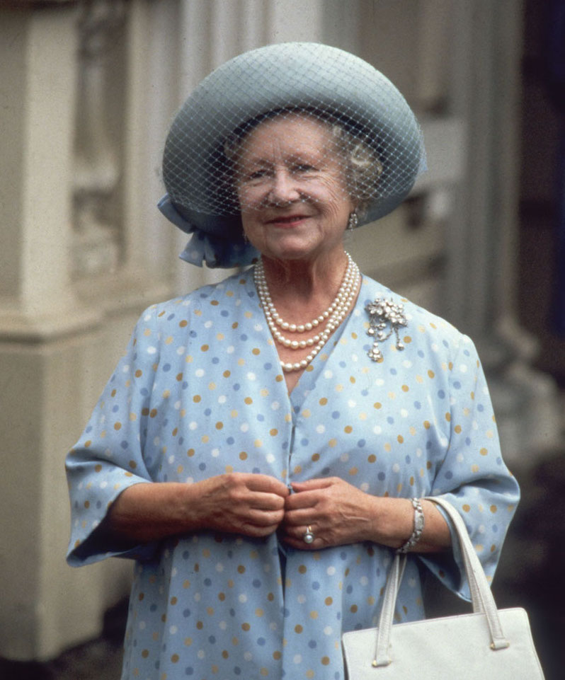 The Queen Mother. Adorable smile and her thoughts on being happy. Big Red Bus and other stories of Grandmas and Reason. marchmatron.com