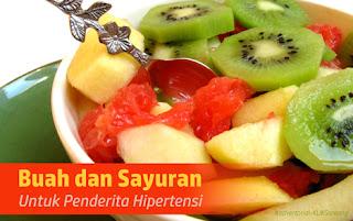 Buah dan Sayuran Untuk Penderita Hipertensi