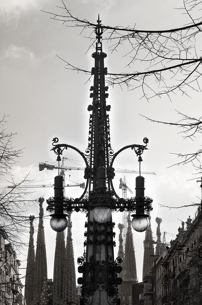 Lamp Post by Pere Falques, Avinguda Gaudi, Barcelona