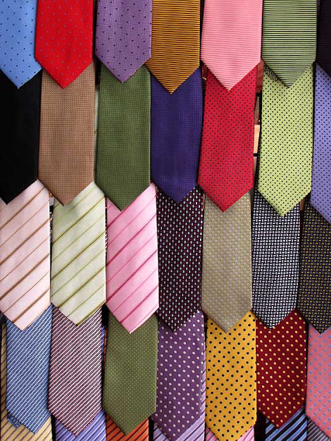 Ties on a rack, Tuttovela village, 28th TAN, Livorno