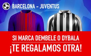 sportium promocion champions Barcelona vs Juventus 12 septiembre
